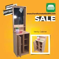 Compact Size Vanity Cabinet in Oak