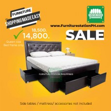 Karina Queen size with bed with storage